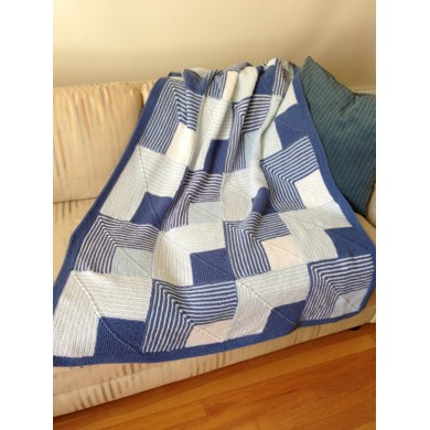 Mitered Squares Baby Afghan or Lap Robe