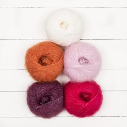 Willow & Lark 5 Ball Color Pack - Pom Pom Hot Water Bottle Cover by Alice Neal for Breast Cancer Haven