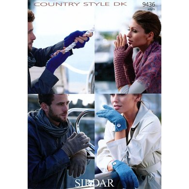 Gloves in Sirdar Country Style DK - 9436