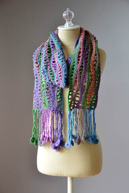 Crochet Coin Scarf in Universal Yarn Classic Shades Metallic - 1231 - Downloadable PDF