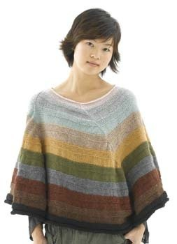 The Artful Poncho in Lion Brand Wool-Ease