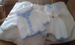 Little Bill Cardi, Trousers/Shorts and Hat with matching Booties from birth to 6mths