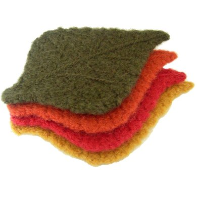 Felted Tea Cozy and Leaf Coasters