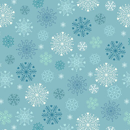 Lewis & Irene Hygge Glow in the Dark - Snowflakes Icy Blue
