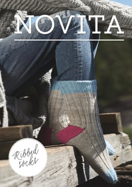 Ribbed Socks in Novita Nalle - 6 - Downloadable PDF