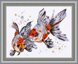 Oven Veiltail Fish Cross Stitch Kit