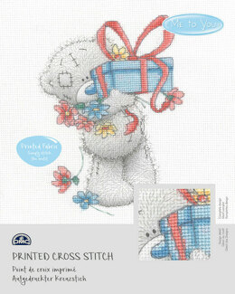 DMC Me To You - Tatty Teddy & Tiny Tatty Teddy - Gift (printed fabric) - 14cm x 18cm