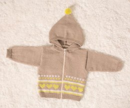 Babies Hooded Jacket in Bergere de France Ideal - 71136-364 - Downloadable PDF
