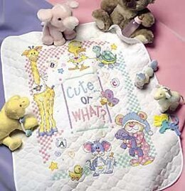 Dimensions Cute.. Or What? Quilt Stamped Cross Stitch Kit - 86cm x 109cm