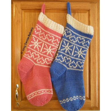 Hearts & Snowflakes Christmas Stocking
