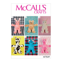McCall's Soft Toys M7849 - Sewing Pattern