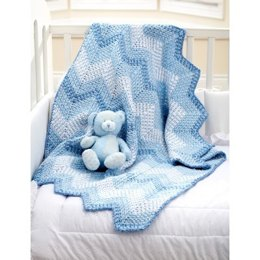 Cascading Ripples Blanket in Bernat Baby Coordinates Solids