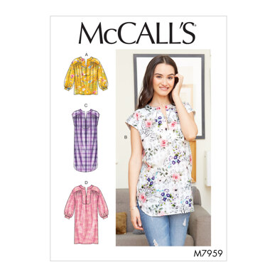 McCall's Misses' Top, Tunic and Dresses M7959 - Sewing Pattern