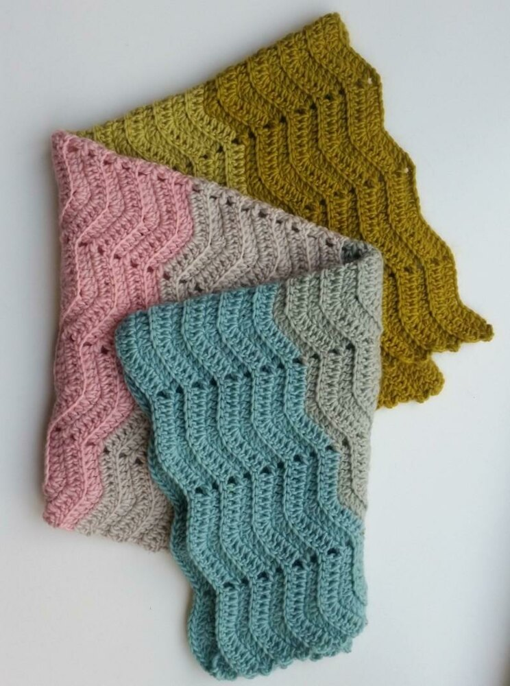 Textured Chevron Baby Blanket Crochet Pattern By Mrs Moon