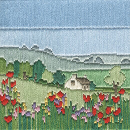Derwentwater Designs Meadow Silken Long Stitch Kit - 11 x 11 cm