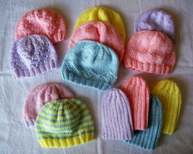 Preemie Hats for Charity Knitting pattern by Carissa Browning ... 6164ee485a1