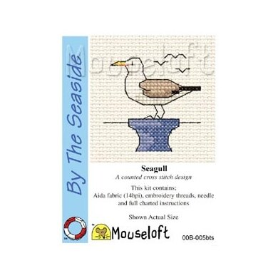 Mouseloft By the Seaside Seagull Cross Stitch Kit - 64mm
