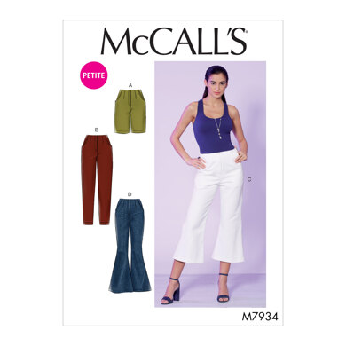 McCall's Misses'/Miss Petite Shorts and Pants M7934 - Sewing Pattern