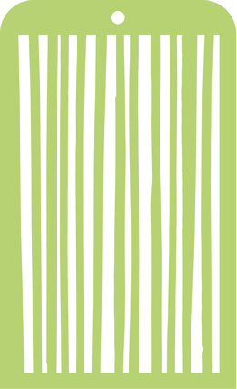 "Kaisercraft Mini Designer Templates 3.5""X5.75"" - Stripes"