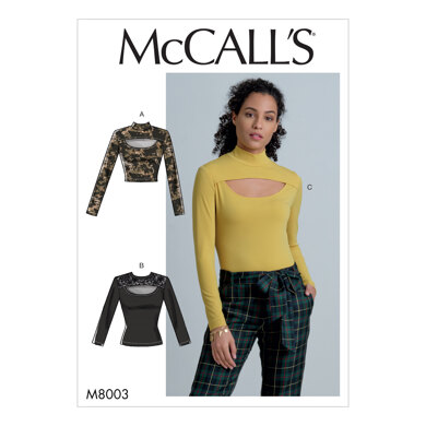 McCall's Misses' Tops M8003 - Sewing Pattern