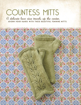 Countess Mitts in Blue Sky Fibers Royal Petites - 1250