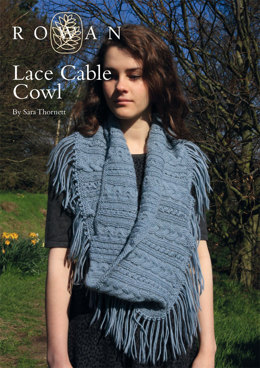 Lace Cable Cowls in Rowan Creative Focus Worsted