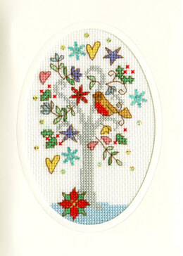 Bothy Threads Winter Wishes Christmas Card Cross Stitch Kit - 9cm x 13cm