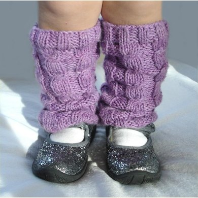 Kid's Cabled Legwarmers