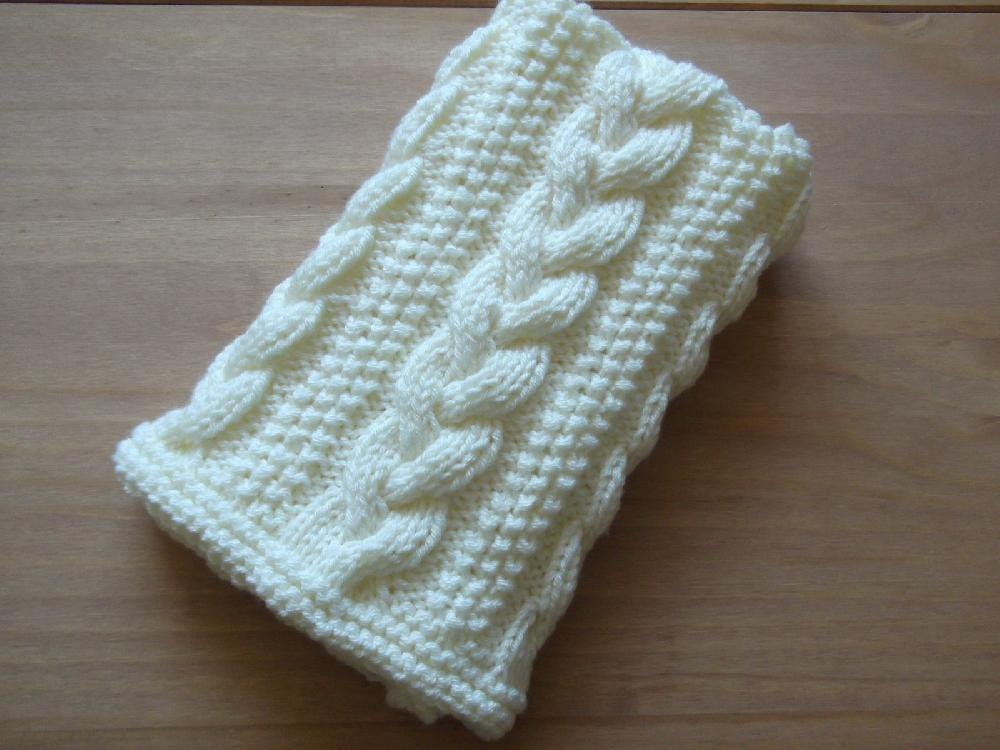 Braided Cable Baby Blanket Basket Stuffer Lap Blanket