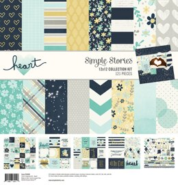 """Simple Stories Collection Kit 12""""X12"""" - Heart"""