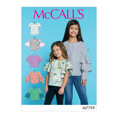 McCall's Children's/Girls' Tops M7799 - Sewing Pattern