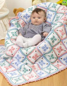 Baby Checks Blanket in Red Heart Super Saver Economy Solids - LW1831