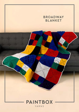 Broadway Blanket in Paintbox Yarns Wool Mix Chunky - Downloadable PDF