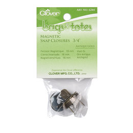 Clover Magnetic Tote Bag Closure 3/4""