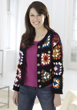 Granny Square Jacket in Red Heart Soft Solids - WR1859