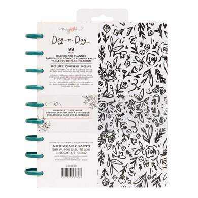 American Crafts Maggie Holmes - Day to Day Dashboard Black & White Floral