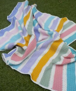 Stress free stripes blanket