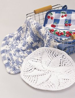 Lacy Dishcloth in Bernat Handicrafter Cotton Prints