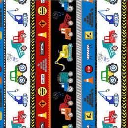 Michael Miller Fabrics Diggers and Dumpers  - MMCX9408