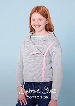 Sidney Jacket in Debbie Bliss Cotton DK - DB304 - Downloadable PDF