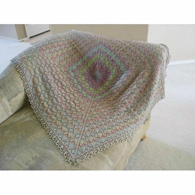 Traveling Leaf Shawl