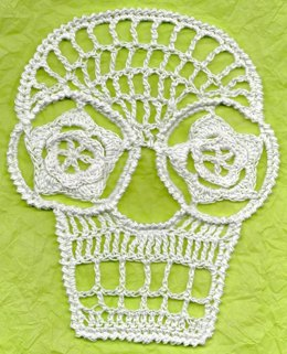 Blanca Crochet Day Of The Dead Applique Skull Pattern