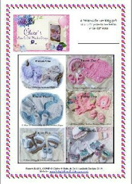 Six Patterns for New Baby Cardigan Gift Sets