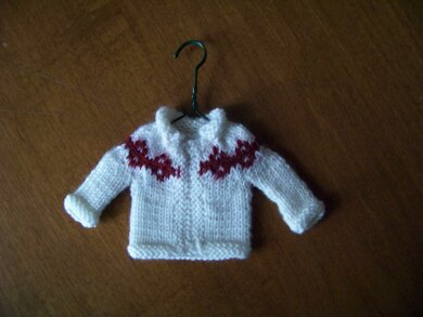 Christmas Tree Ornament Tiny Cardigan II