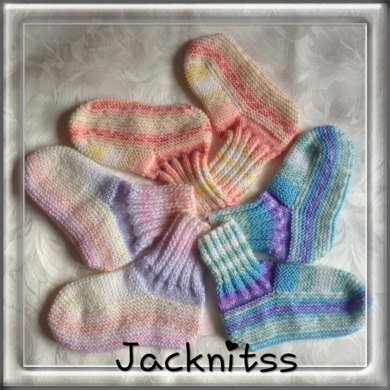 Adult Bed Socks Knitting Pattern By Jacqueline Gibb
