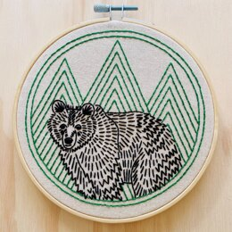 Hook Line & Tinker Bear With Me Embroidery Kit - 6in