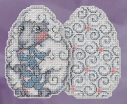 Mill Hill Sheep Egg Ornament Cross Stitch Kit - Multi