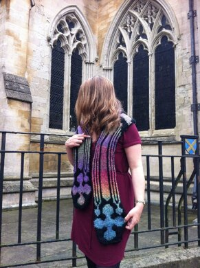Stained Glass Window Scarf and Shawl