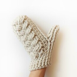 Holden Cable Crochet Mittens