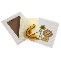 Groves & Banks Lion Cross Stitch Kit with Frame